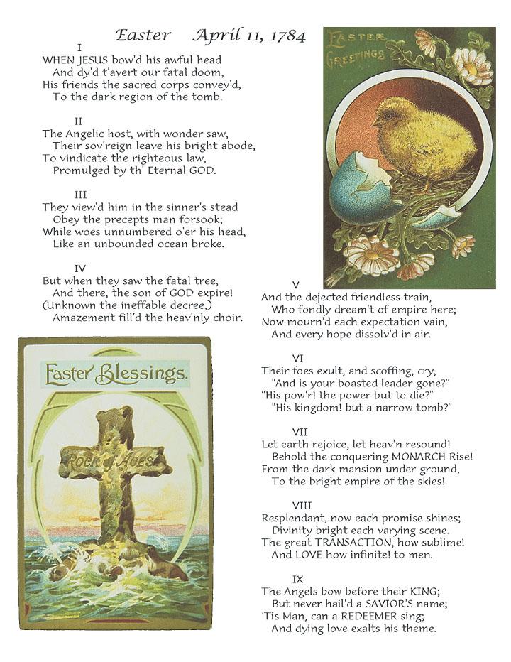 Poetry of Major Henry Livingston - Easter - April 11, 1784